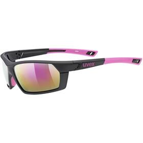 UVEX Sportstyle 225 Sportsbriller, black pink mat/mirror pink